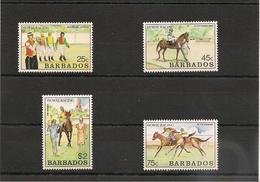 BARBADES : Course De Chevaux Année 1990  N°Y/T: 772/775** - Barbados (1966-...)