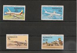 BARBADES : Avions/Planes Année 1989  N°Y/T: 740/743** - Barbades (1966-...)
