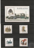 BARBADES : Parlement  Année 1989  N°Y/T: 744/747** Et Bloc 27** Côte : 10,00 € - Barbades (1966-...)