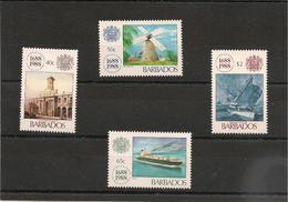 BARBADES : Tricentenaire Compagnie Llyod:  Année 1988  N°Y/T: 732/735** - Barbados (1966-...)