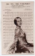 Musique 003, Partition Chanson, Kathe De Nagy, Si Tu Ne Viens Pas, Film Amoi Le Jour, à Toi La Nuit, Editions Salambert  - Muziek En Musicus