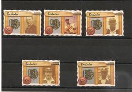 BARBADES : Joueurs De Cricket Célèbres :  Année 1988  N°Y/T: 718/721** Et 731** Côte : 22,80 € - Barbados (1966-...)