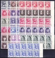 ** Tchécoslovaquie 1945 Mi 439-54 (Yv 387-402) Blocs De 10, (MNH) - Tschechoslowakei/CSSR