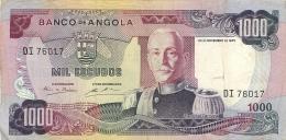 BILLET ANGOLA BANCO DE ANGOLA 1000 ESCUDOS 1972 - Angola