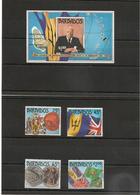 BARBADES : Anniversaire De L'Indépendance  Année 1987  N°Y/T: 714/717**et Bloc 24** - Barbados (1966-...)