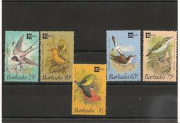 BARBADES : Faune: Oiseaux/Birds  Année 1987  N°Y/T: 685/689** Côte : 15,50 € - Barbades (1966-...)