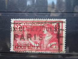 """VEND BEAU TIMBRE DE FRANCE N° 184 , CACHET """" J.O. PARIS 1924 """" !!! - France"""