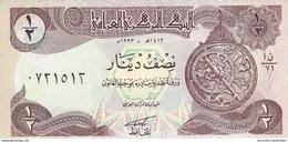 IRAQ 1/2 DINAR 1993 P-78b UNC LILAC UNDERPRINT [IQ335b] - Iraq