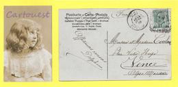 CPA Portrait FILLETTE Beautiful Girl 1908 - Portraits