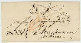 """""""ELMSHORN - NEUENKIRCHEN"""" 1861 Schöner Taxbrief Mit Rs. Bahnpoststempel Inhalt - Schleswig-Holstein"""