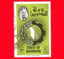 BAHREIN - Usato - 1979 - Bandiera, Mappa E Shaikh Isa Bin Ivaila Al-Khalifa - 50 - Bahrein (1965-...)
