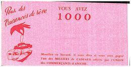 V R/Buvard Vacances De Rèves   (Format 21 X 11) (N= 1) - Buvards, Protège-cahiers Illustrés