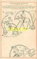 Enseignement, Superbe Carte Pionnière (avant 1904) Pour La Méthode  De Sténographie Duployé, Décor Art-Nouveau, N° 16 - Schools