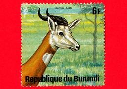 BURUNDI - Usato - 1975 - Animali Africani - Antilopi - Dama Gazelle (Gazella Dama) - 6 - Burundi