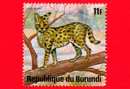 BURUNDI - Usato - 1975 - Animali Africani - Felini Predatori - Serval (Leptailurus Serval) - 11 - Burundi