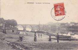CPA - 24 - BERGERAC - Les Quais - Le Faubourg - 5 - Bergerac