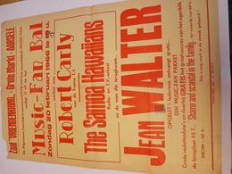 Affiche Poster - Zaal Vriendenkring Aarsele - Music Fan Bal - Jean Walter 1966 - Affiches