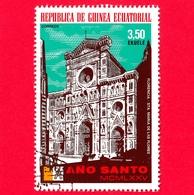 GUINEA EQUATORIALE - 1974 (1975) - Anno Santo 1975, Chiese - Cattedrale Di Santa Maria Del Fiore - 3.50 - Guinea Equatoriale
