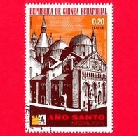 GUINEA EQUATORIALE - 1974 (1975) - Anno Santo 1975, Chiese - S. Antonio Di Padova - 0.20 - Equatorial Guinea