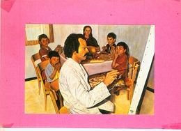 CP.  66.  HAMEAU  DE  LAVAIL  PAR  SOREDE.  PASCAL  SOLER. ARTISTE  PEINTRE. AUTOPORTRAIT  DE  L'ARTISTE  EN  FAMILLE - Peintures & Tableaux