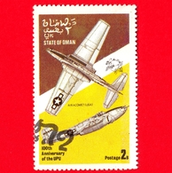 OMAN - State Of Oman - Usato - 1974 - Aerei - Military Aircraft (100th Anniversary Of UPU) - 2 - Oman