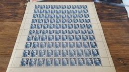 LOT 417358 TIMBRE DE FRANCE NEUF** FEUILLE N°725 VALEUR 15 EUROS BLOC - Feuilles Complètes