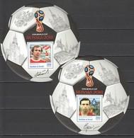 J740 PRIVATE ISSUE 2016 BURUNDI SPORT FOOTBALL ROMANTSEV KHOUSSAINOV 2BL MNH - Coupe Du Monde