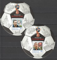 J747 PRIVATE ISSUE 2016 BURUNDI SPORT FOOTBALL CHESTERNEV NETTO 2BL MNH - Coupe Du Monde