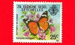 SEYCHELLES - Usato - 1980 - Flora E Fauna - Farfalla - Butterfly - Zil Eloigne Sesel - 25 - Seychelles (1976-...)
