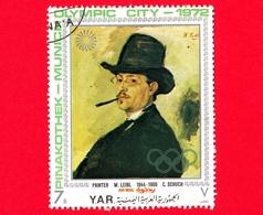 YEMEN - YAR - Usato - 1971 (1972) - Città Olimpica Di Monaco - Quadri Dell'antica Pinacoteca - W. Leibl - C. Schuch - 7 - Yemen