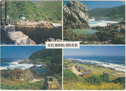 Storms River: Suspension Bridge, Rock Pool, Otter Trail, Log Cabins - (South Africa) - Multiview - Zuid-Afrika