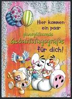 A7039 - TOP Diddl Maus - Glitzerkarte - Comic Cartoon - Comicfiguren