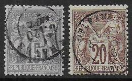 France - N° 66 Et 67 Oblitérés - Cote :35 € - 1876-1878 Sage (Type I)