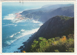 Cape Province - Cliffs, Turbulent Sea, Mouth Of Storms River - Kaapprovinsie - Skuimende See, Mond Van De Stormsrivier - Zuid-Afrika