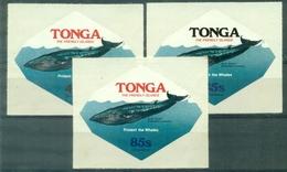 TONGA  Service Aérien 123 / 125 (baleine,) Adhésifs Nxx TB Cote: 27.50 €. - Baleines