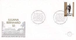Nederland - FDC - 50 Jaar Huwelijk Prinses Juliana/Prins Bernhard - Paleis Soestdijk - Baarn - NVPH E241 - Monumenten