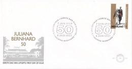 Nederland - FDC - 50 Jaar Huwelijk Prinses Juliana/Prins Bernhard - Paleis Soestdijk - Baarn - NVPH E241 - Aardrijkskunde