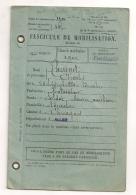 1929 FASCICULE DE MOBILISATION / CLASSE DE 1900 / BUREAU DE RECRUTEMENT DE MONTLUCON / ALLIER CHEVAGNES    B310 - Documenti Storici