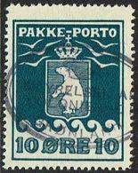 1916. PAKKE PORTO. 10 øre Blue. Thiele. Perf 11 ½. Beautiful Cancel STYRELSEN AF KOLO... (Michel 7A) - JF169351 - Parcel Post