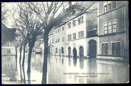 Cpa Du 25 Montbéliard Inondations Du 20 Janvier 1910 Faubourg De Besançon      SEPT18-44 - Montbéliard