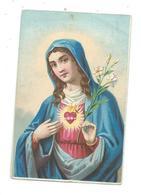 IMAGE PIEUSE Chromo...SACRE COEUR De MARIE.. 2 Scans - Images Religieuses