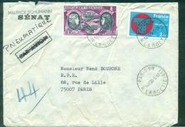 FRANCE PLI PNEUMATIQUE PARIS 08 Rue La Boétie 20.5.1981 - Marcophilie (Lettres)