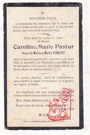 DP Caroline M. Pastur ° Lasne-Chapelle-Saint-Lambert 1851 † Marache Sous Ohain Lasne 1910 X M. Verbayst - Images Religieuses