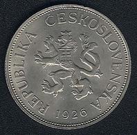 Tschechoslowakei, 5 Korun 1926, XF! - Czechoslovakia