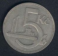 Tschechoslowakei, 5 Korun 1925 - Czechoslovakia