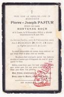 DP Pierre J. Pastur ° Lasne 1832 † 1911 X Hortense Roch - Images Religieuses