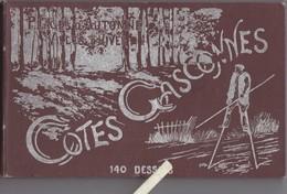 Guide XIXè - Cotes Gasconnes 140 Dessins D'apres Nature / Bordeaux, Médoc, Arcachon, Dax, Bayonne, Biarritz - Voyages