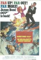 "110-089  -   "" ON HER MAJESTY'S SECRET SERVICE  "" JAMES BOND 007 - GEORGE LAZENBY / DIANA RIGG / TELLY SALAVAS - Affiches Sur Carte"
