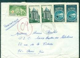 FRANCE PLI PNEUMATIQUE PARIS 104 Rue Legendre 29.9.1971 - Marcophilie (Lettres)