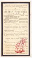 DP EZ Joanna R. Pauwels - Zr. Francisca ° Kontich 1850 † 1913 Klooster Apostelinnen Antwerpen / Begr. Waarloos - Images Religieuses